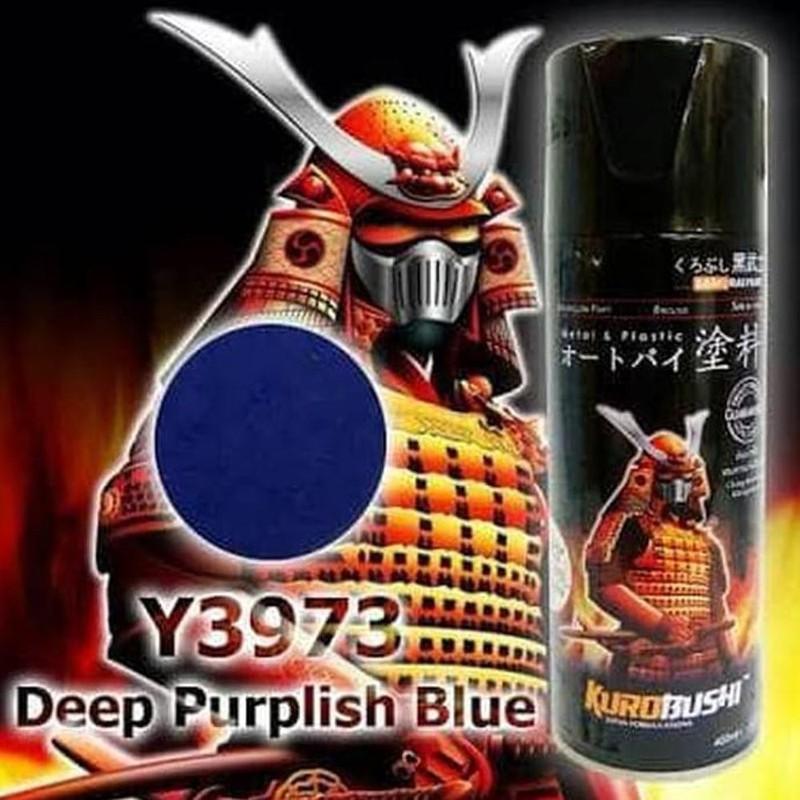 Y3973 _ Chai sơn xịt  Samurai Y3973 màu xanh tím đậm   Yamaha shop uy tín, giao hàng nhanh, giá rẻ 3