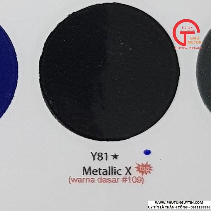 y81 _ Chai sơn xịt sơn xe máy Samurai Y81 _ màu đen ánh kim X _ Metallic X  _ uy tín, giao hàng nhanh, giá rẻ 8