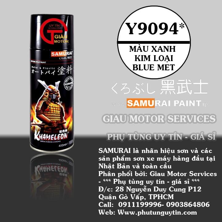 y9094 _ Chai sơn xịt Samurai Y9094 màu xanh kim loại Yamaha shop uy tín, giao hàng nhanh, giá rẻ 1