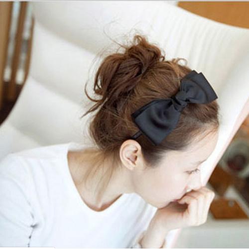Bờm tóc đính nơ dịu dàng style Hàn Quốc cho bạn Nữ