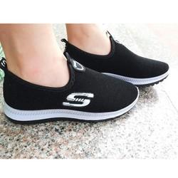 Giày lười nữ đen