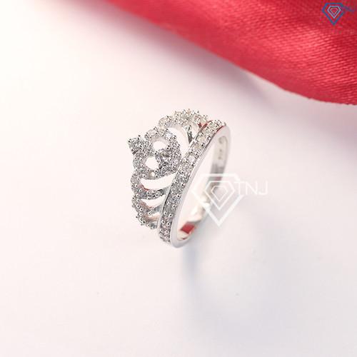 Nhẫn bạc nữ mặt đá hình vương miện đẹp NN0163 - Trang Sức TNJ