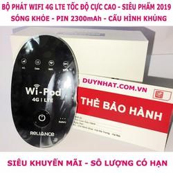 BỘ PHÁT WIFI ZTE WD670 3G 4G Chuẩn Chĩnh Hãng - wi -pod - 4g lte - wd670 thịnh hành