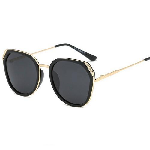Kính râm phân cực tai mèo nữ chính hãng Liesen- Thiết kế bởi Italia, mắt kính nữ chống tia uv chuẩn 400