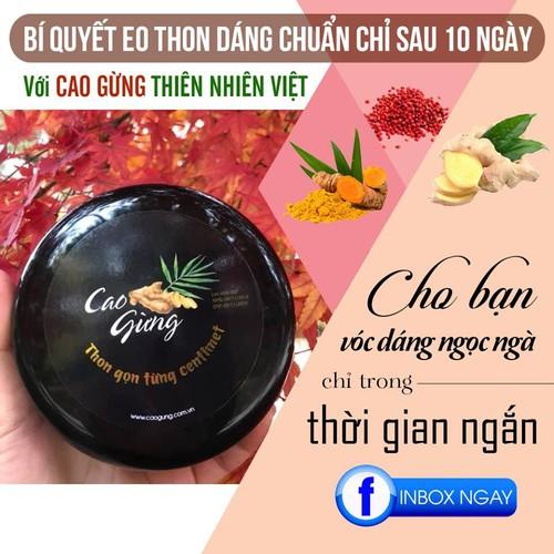 Cao Gừng Thiên Nhiên Việt Bí Quyết Tan Mỡ Bụng Hông Đùi Bắp Tay An Toàn Hiệu Quả