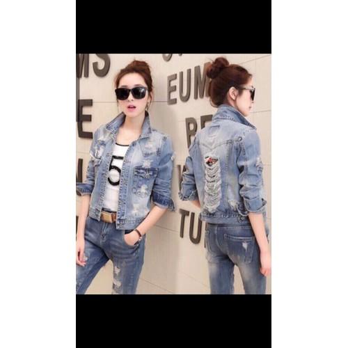 áo khoác jean nữ kiểu rách - 4879388 , 17459972 , 15_17459972 , 180000 , ao-khoac-jean-nu-kieu-rach-15_17459972 , sendo.vn , áo khoác jean nữ kiểu rách