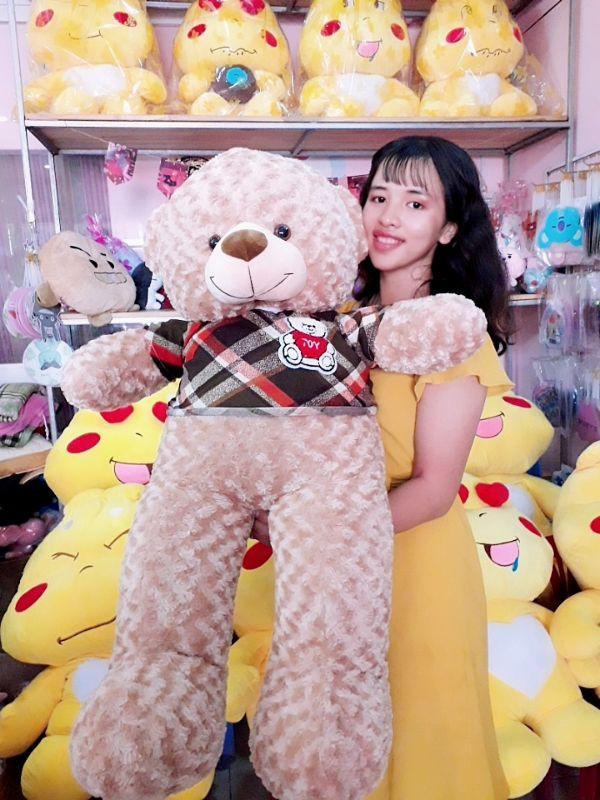 Gấu Teddy 1m1 Lông Xoắn Đáng Yêu 1