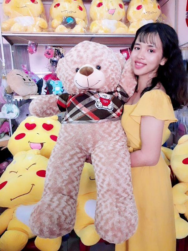 Gấu Teddy 1m1 Lông Xoắn Đáng Yêu 3
