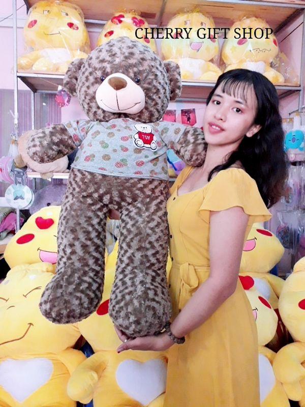 Gấu Teddy 1m1 Nâu Choco Lông Xoắn Đáng Yêu 3