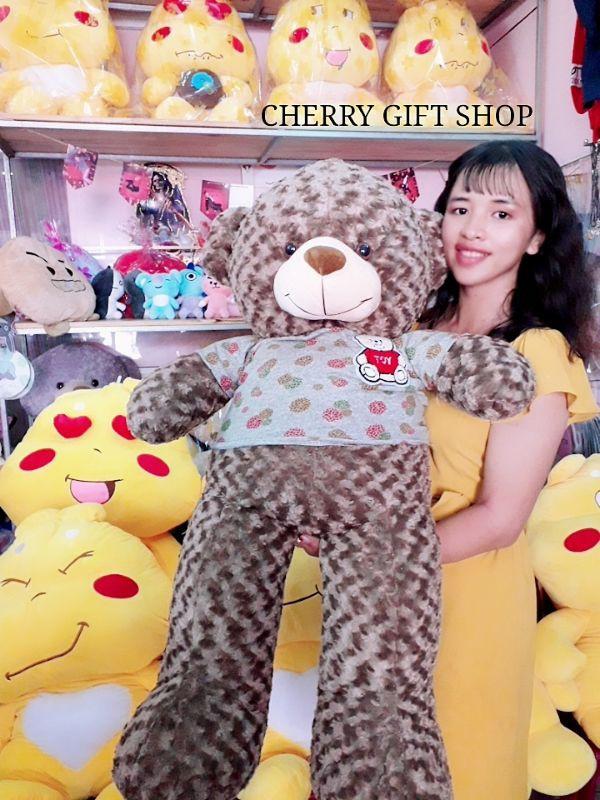 Gấu Teddy 1m1 Nâu Choco Lông Xoắn Đáng Yêu 1