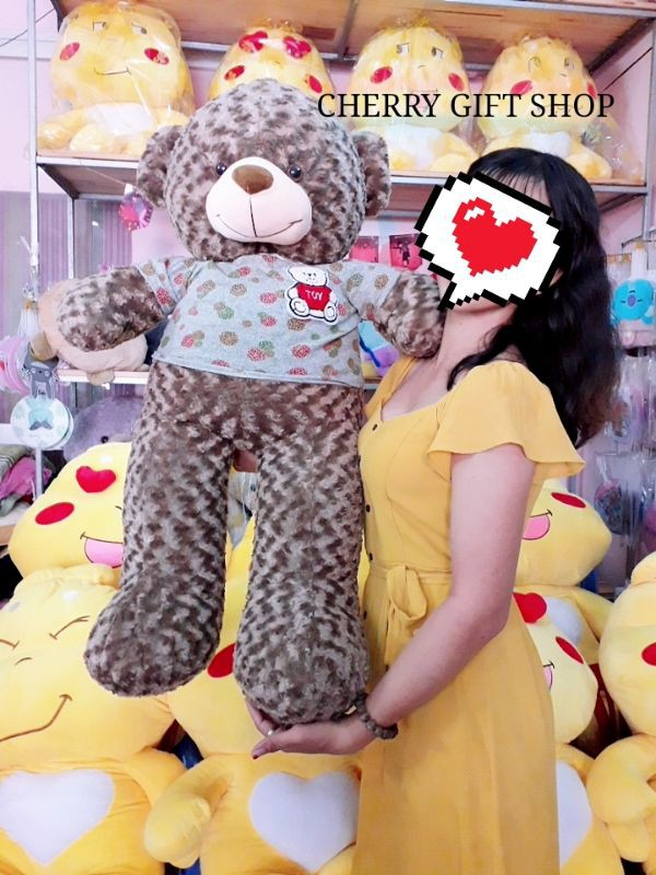Gấu Teddy 1m1 Nâu Choco Lông Xoắn Đáng Yêu 2