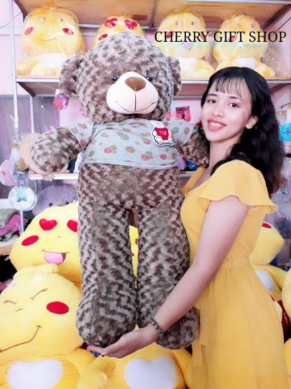 Gấu Teddy 1m1 Nâu Choco Lông Xoắn Đáng Yêu 4