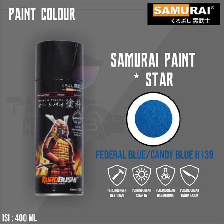 H139 _ Chai sơn xịt sơn xe máy Samurai H139 màu xanh cơ bản Honda _ Federal Blue _shop uy tín _giao hàng nhanh _ giá rẻ 2
