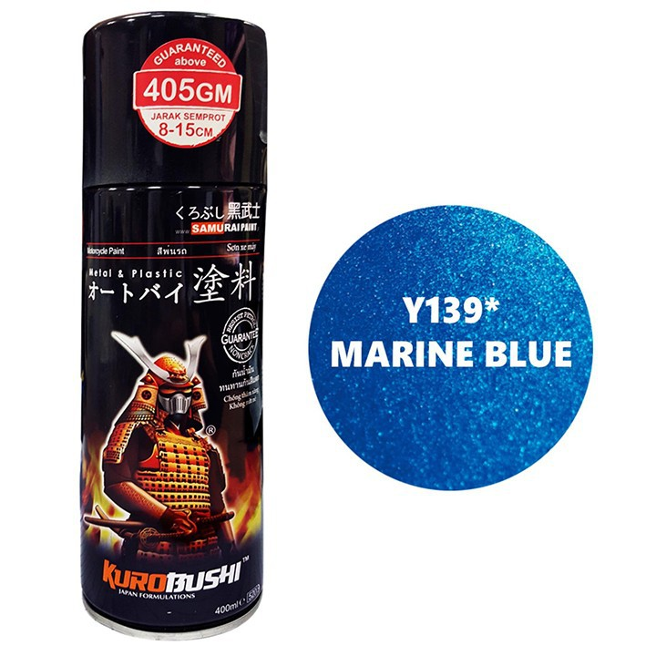 H139 _ Chai sơn xịt sơn xe máy Samurai H139 màu xanh cơ bản Honda _ Federal Blue _shop uy tín _giao hàng nhanh _ giá rẻ 3