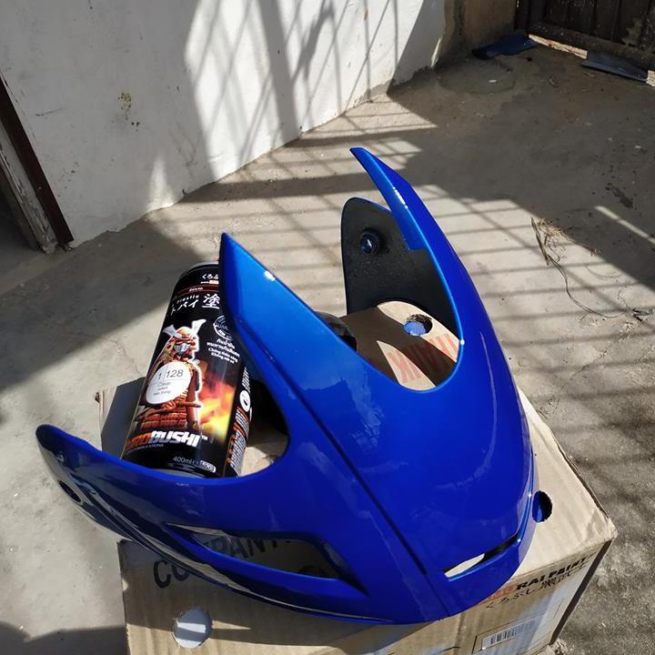 H139 _ Chai sơn xịt sơn xe máy Samurai H139 màu xanh cơ bản Honda _ Federal Blue _shop uy tín _giao hàng nhanh _ giá rẻ 12