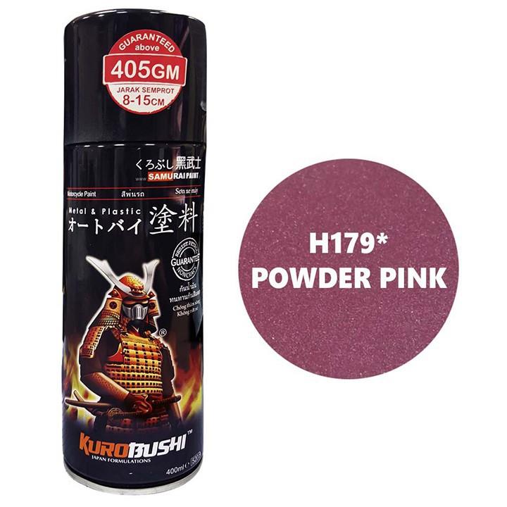H179 _ Sơn xit Samurai H179 màu hồng phấn Honda _Powder Pink màu bền, đẹp, giá cực tốt 2