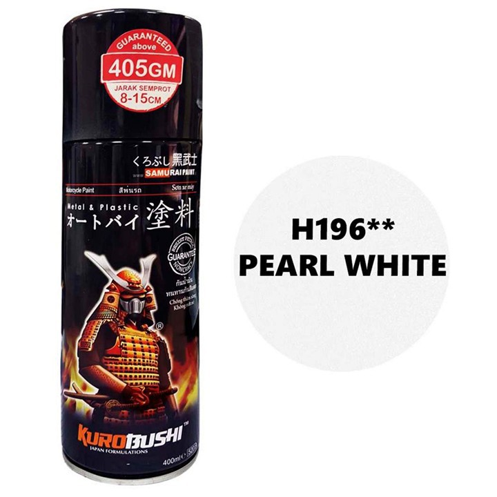 H196 _Sơn xit Samurai H196 màu trắng ngọc trai_ Pearl White Honda, Tốt, giao nhanh 2