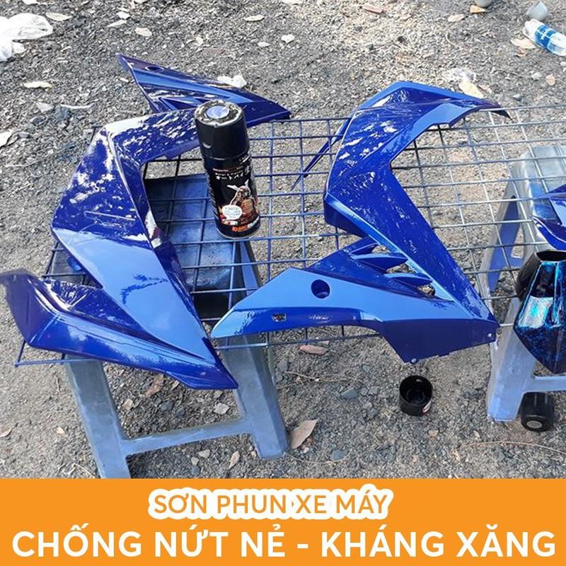 H222 _ Sơn xit Samurai H222 màu xanh da trời _ Twister Blue  Honda Tốt, ship nhanh , giá rẻ 8