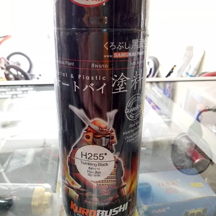 H255 _ Sơn xit Samurai H255 màu đen nhánh Honda _ Twinkling Black_ Tốt, giá rẻ, ship nhanh 3