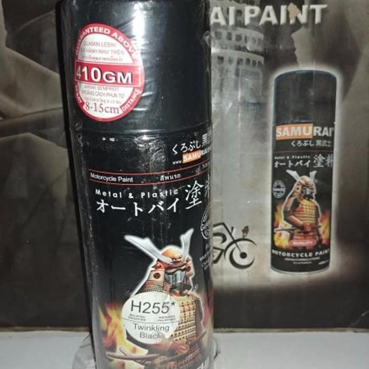 H255 _ Sơn xit Samurai H255 màu đen nhánh Honda _ Twinkling Black_ Tốt, giá rẻ, ship nhanh 8
