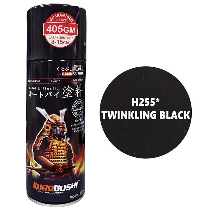 H255 _ Sơn xit Samurai H255 màu đen nhánh Honda _ Twinkling Black_ Tốt, giá rẻ, ship nhanh 5