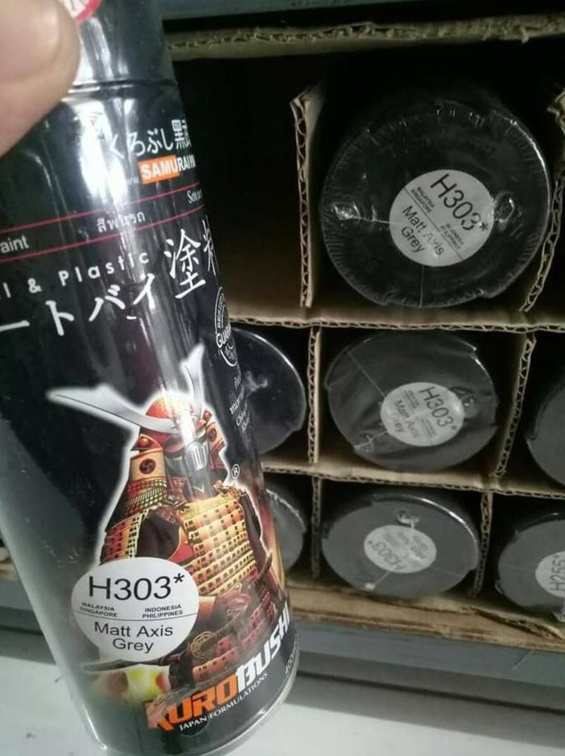 H303 _ Sơn xit Samurai H303 màu xám mờ Honda _ Matt Axis Grey _ Tốt, giá rẻ, ship nhanh 9
