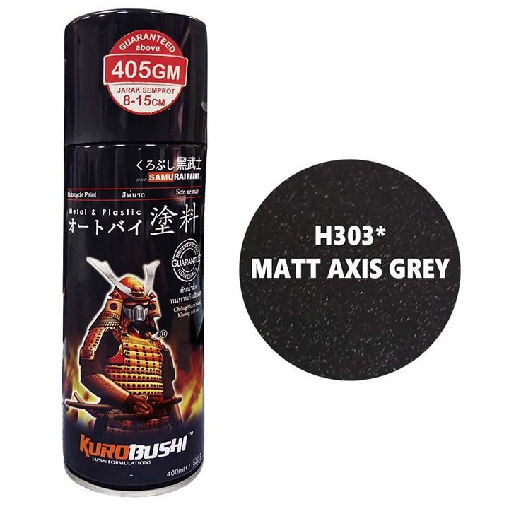 H303 _ Sơn xit Samurai H303 màu xám mờ Honda _ Matt Axis Grey _ Tốt, giá rẻ, ship nhanh 2
