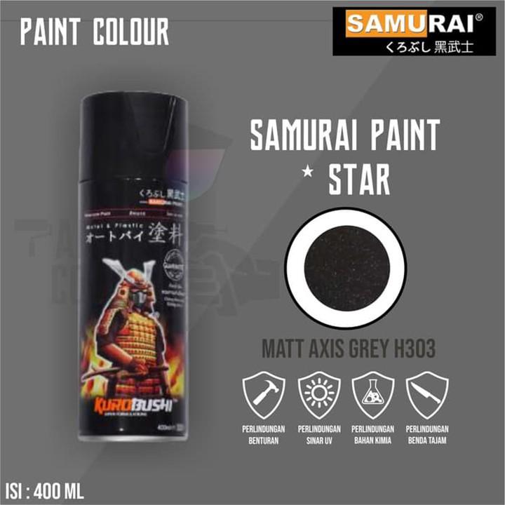 H303 _ Sơn xit Samurai H303 màu xám mờ Honda _ Matt Axis Grey _ Tốt, giá rẻ, ship nhanh 3