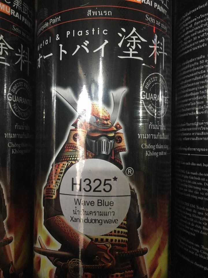 H325 _ Sơn xit Samurai H325 màu xanh dương Wave Honda _Wave Blue _ Tốt, giá rẻ, ship nhanh 8