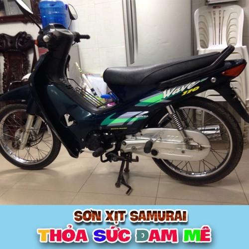 h612 _ Chai sơn xịt sơn xe máy Samurai H612 màu xanh nhớt Wave Honda _ Honda wave Green samurai , shop uy tín, rẻ 5