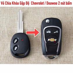 Vỏ Chìa Khoá Gập Độ Chevrolet  Aveo Vivant    2 nút bấm