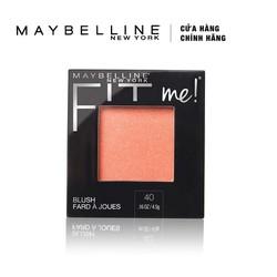 Phấn Má Hồng Mịn Lì Chuẩn Màu Maybelline Fit Me Blush - Màu 40 Peach 4,5g