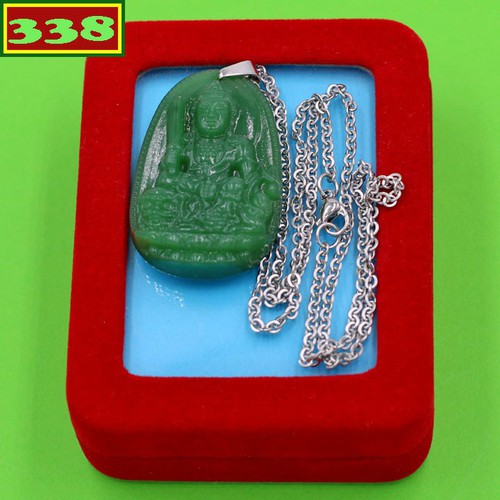 Vòng cổ Văn Thù thạch anh xanh 5 cm DITTXN3 kèm hộp nhung - Hộ mệnh người tuổi Mão