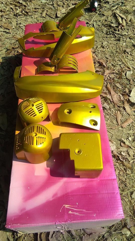 Y016 _ Sơn xit Samurai Y016 _Candy Yellow_ màu vàng kẹo Yamaha _ Tốt, giá rẻ, ship nhanh 3