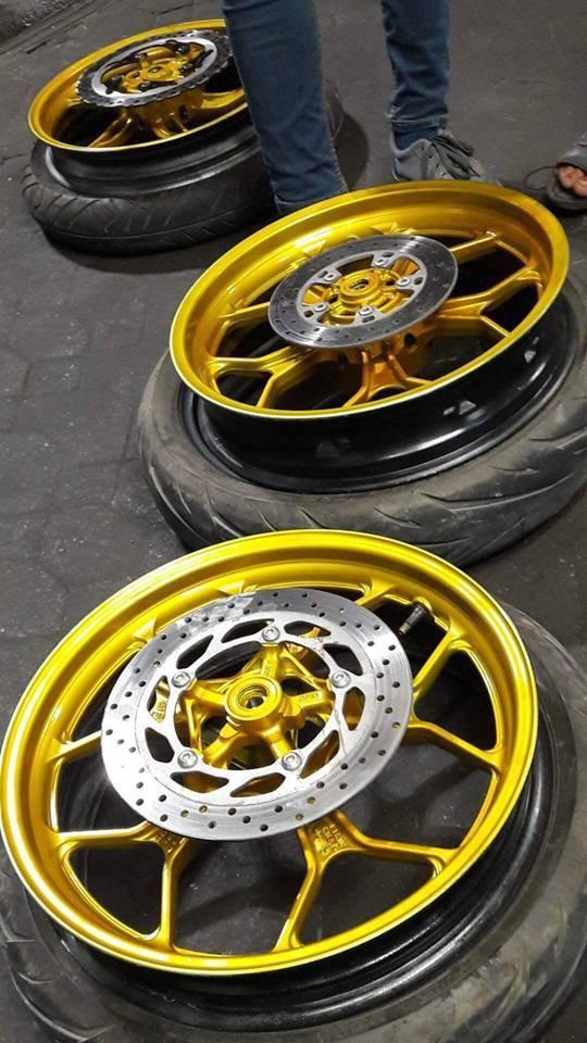Y016 _ Sơn xit Samurai Y016 _Candy Yellow_ màu vàng kẹo Yamaha _ Tốt, giá rẻ, ship nhanh 9