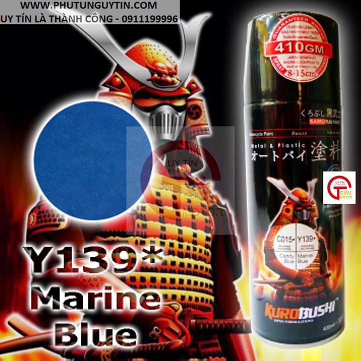 y139 _ Chai sơn xịt sơn xe máy Samurai Y139 màu xanh nước biển Yamaha uy tín, giao hàng nhanh, giá rẻ 8