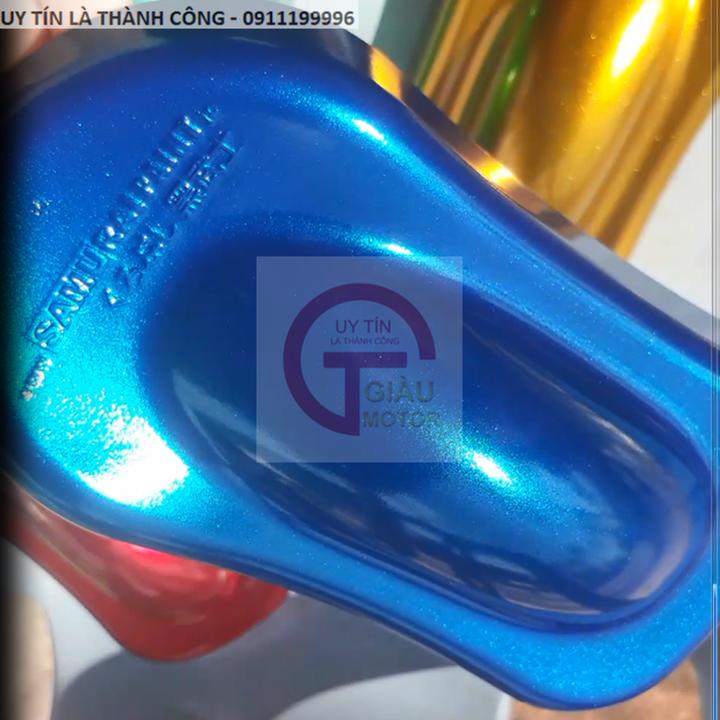y139 _ Chai sơn xịt sơn xe máy Samurai Y139 màu xanh nước biển Yamaha uy tín, giao hàng nhanh, giá rẻ 2