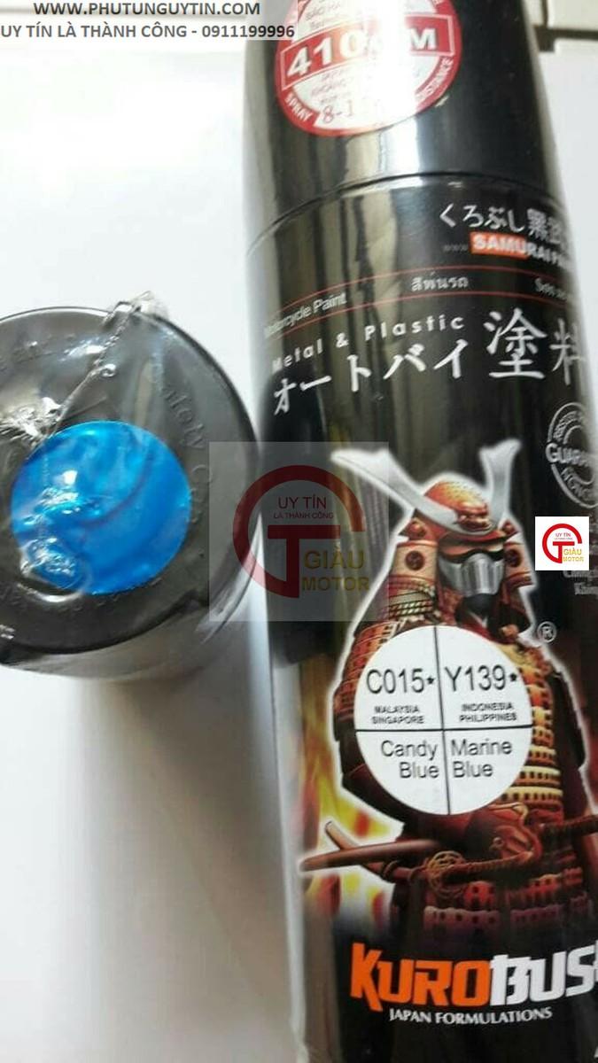y139 _ Chai sơn xịt sơn xe máy Samurai Y139 màu xanh nước biển Yamaha uy tín, giao hàng nhanh, giá rẻ 9