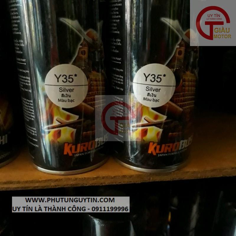 y35 _ Chai sơn xịt sơn xe máy Samurai Y35 màu Bạc  Yamaha _ Silver  uy tín, giao hàng nhanh, giá rẻ 8