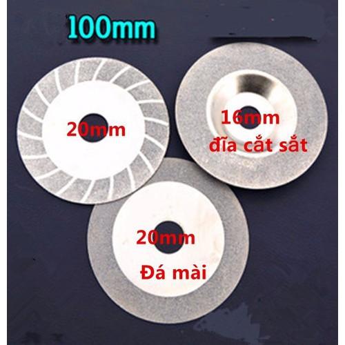 Bộ 3 Đĩa cắt đá mài kim cương 100mm - 11541486 , 17488188 , 15_17488188 , 149000 , Bo-3-Dia-cat-da-mai-kim-cuong-100mm-15_17488188 , sendo.vn , Bộ 3 Đĩa cắt đá mài kim cương 100mm