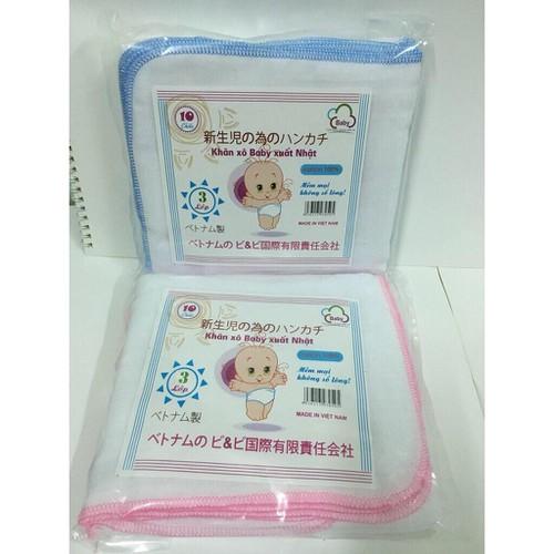 Set 10 chiếc khăn xô Baby xuất Nhật LOẠI 2 LỚP MÀU HỒNG