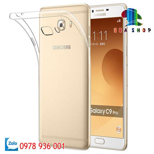 Ốp lưng Samsung Galaxy C9 Pro silicon trong suốt