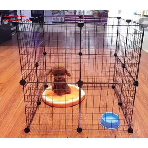 Chuồng nuôi chó mèo thỏ lắp ghép tại nhà gồm 16 vĩ sắt sơn tĩnh điện ghép lại với nhau tặng kèm nút nhựa chuồng nuôi thú cưng giá rẻ - 21027817 , 24143334 , 15_24143334 , 279000 , Chuong-nuoi-cho-meo-tho-lap-ghep-tai-nha-gom-16-vi-sat-son-tinh-dien-ghep-lai-voi-nhau-tang-kem-nut-nhua-chuong-nuoi-thu-cung-gia-re-15_24143334 , sendo.vn , Chuồng nuôi chó mèo thỏ lắp ghép tại nhà gồm 16