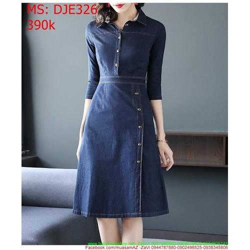 Đầm jean nữ công sở cổ trụ phối nút thời trang DJE326 - 7560847 , 17478480 , 15_17478480 , 390000 , Dam-jean-nu-cong-so-co-tru-phoi-nut-thoi-trang-DJE326-15_17478480 , sendo.vn , Đầm jean nữ công sở cổ trụ phối nút thời trang DJE326