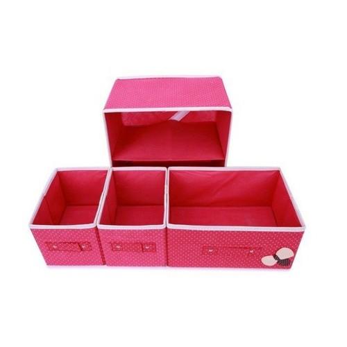 Tủ Vải Mini 2 Tầng 3 Ngăn 0242a0242a