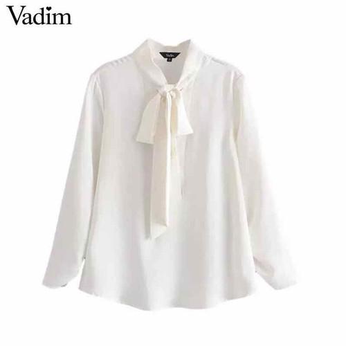 áo sơ mi nữ thiết kế voan lụa thắt nơ