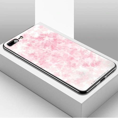 Ốp kính cường lực dành cho điện thoại iPhone 7 Plus - 8 Plus - hoa anh đào tranh phong cảnh - hadpc 025 - giá tốt