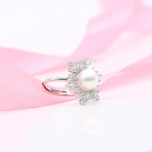 Nhẫn Ngọc Trai Pearl Bảo Ngọc Jewelry Tuyết Trắng N-1347