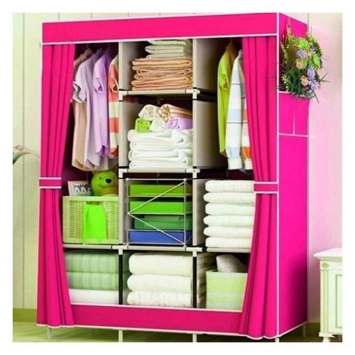 Tủ quần áo 3 buồng 8 ngăn | Tủ vải trơn 0465a0465a