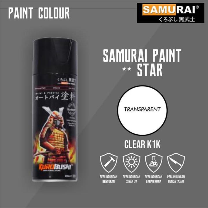 K1K _ Chai sơn xịt sơn xe máy Samurai K1K** sơn phủ bóng trong suốt 1 thành phần _ Top coat _ shop uy tín, giao nhanh 2